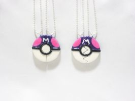 MasterBall Inspired BFF/Couple's Necklace by SaphirazlilJewels