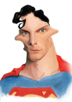Superman Caricature - Christopher Reeve by Steveroberts