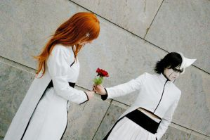 """on you"". ulquiorra-cosplay by desearu"