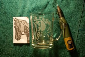 Engraved cup by frozen0rb
