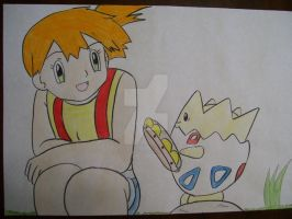 Misty and Togepi together by AJLeefan4life