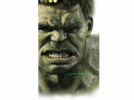 Completely painted of Hulk by Aibehr