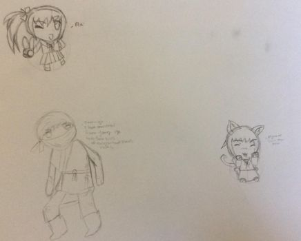 Chibi practice by CrystaledEmbers