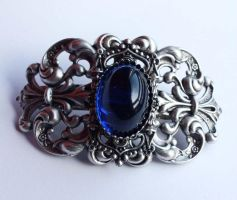 Silver Gothic Hair pin by Pinkabsinthe