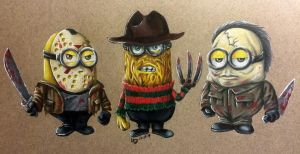 Classic Horror Minions by BlvqWulph