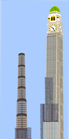 A group of super tall buildings by OceanRailroader