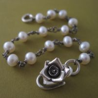 Victorian Rose Bracelet by starrydesigns