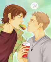 Sam and Dean by LinART