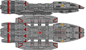 Battlestar Pegasus - Mercury Class (Uparmed) by Kelso323
