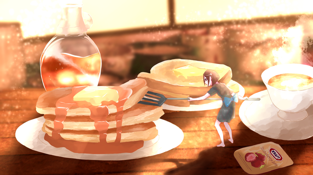 Breakfast by TheDiscowaffles