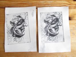 Dry Point printing by MoonSnake12