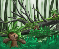 Find us, Chespin by OnixTymime