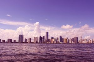Miami skyline by Yoh-Boo