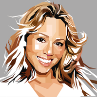 Mariah Carey PopArt Monochrome by ndop