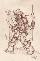Wild Archer Girl - Sketch 2011 by DenisM79