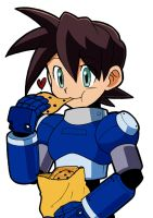 Megaman loves cookies XD by kiraDaidohji