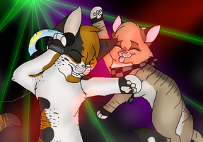 Wombat and Misty Dancing fools by MlSTY