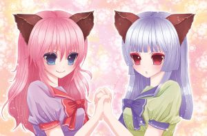 Entering the Twin Neko Princess Tickle RP by MariusXxX