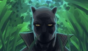 daily sketch 03 Black Panther by Niggaz4life