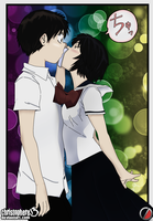 Mysterious Girlfriend X, Kiss by Christophere13
