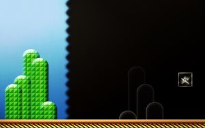 SMB3: Stage Goal Wallpaper V2 by BLUEamnesiac