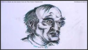 Draw An Old Man's Face In Two Point Perspective 47 by drawingcourse