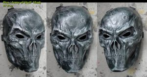 Rios Mask in Battle Damaged Green by Uratz-Studios