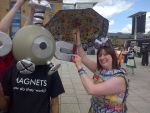Magnemite attracks the umbrella XD - London MCM by Froodals