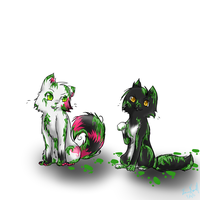 Commish: Lola and Inky by Kitzophrenic