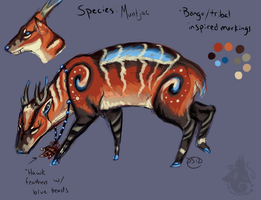 Muntjac Character by animalartist16