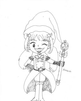 Inktober 16th- Magical Girl Me by Wordgirlserenity67