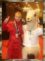 Vash and Lama ConnectiCon 2007 by Fallensbane