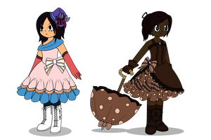 ~Candy Themed Dresses~ by Starry-Bat1