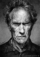Clint Eastwood. by CameronHarperArt