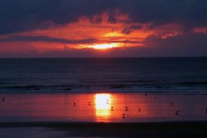 Sunset in Westward ho! , Devon by Xzavier-JP