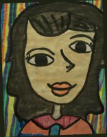 Abstract Girl by weirdness-is-cul