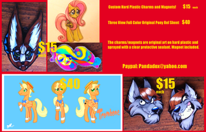 Commissions and Custom Charms/Magnets! by PumpkinHipHop