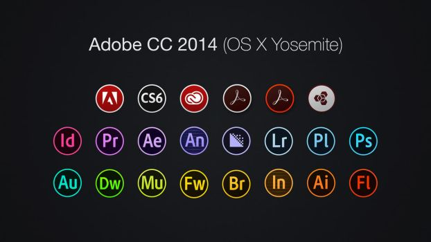 Adobe CC 2014 Icons (OS X Yosemite) by Baklay
