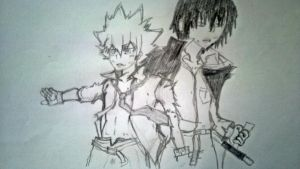 Tsuna and Hibari by TheROOkieDrawer