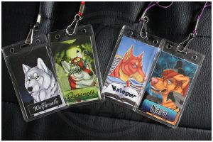 Commissions: Double-Side Con-Badges part 2 by SaQe