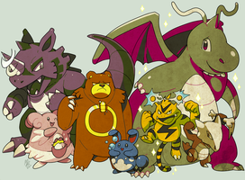 OLD SCHOOL CRYSTAL PKMN TEAM by MBLOCK