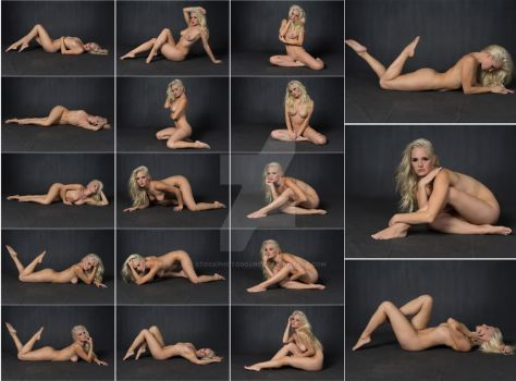 Stock: Liz Ashley Nude Floor Poses - 18 Images by stockphotosource