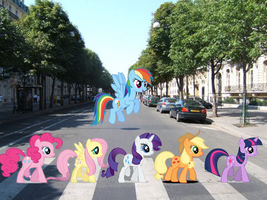 First Photoshop MLP Abbey Road by GerudoRose502
