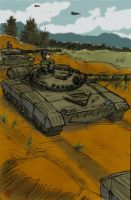 T-72s On The Move by avary