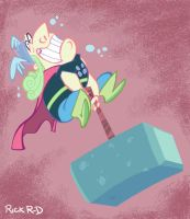 Unmighty Thor mighty hammer by rickrd
