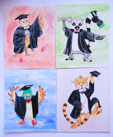 Graduation Animals by Lucky101212