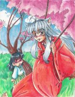Swing swing +inu and kagome+ by FalyneVarger