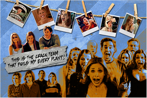 BtVS Wallpaper - Scooby Crack Team by legalizedMuffin