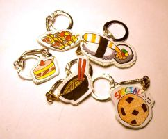 Food Keychains by idont0know