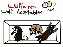 Boxed Wolf Adoptables - Points - CLOSED - by WolfTwine